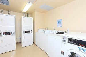 Sutter Terrace laundry room with 8 machines